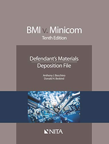BMI v  Minicom: Defendant's Materials, Deposition File (NITA)