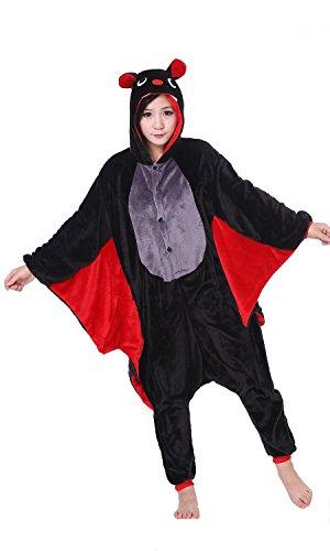 iKneu Kigurumi Pigiama Cosplay Costume Animale Halloween Biancheria Da Notte D-Pipistrelli