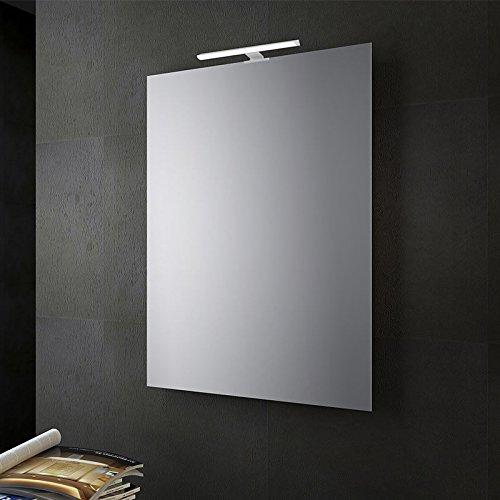 San marco specchio bagno reversibile con lampada led 70x50 cm