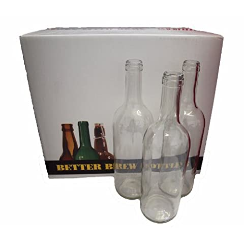 Home Brew & Wine making - Pack Of 15 Clear Wine Bottles