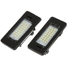 Luz - SODIAL(R) 2pzs 168LM 24 3528 SMD 24 piezas Luz de placa matricula LED para BMW E39 E60 E61 E90 5 Series