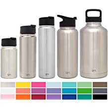 Simple Modern Una botella de agua de acero inoxidable de 18 onzas, un vaso termo de té/café Plata