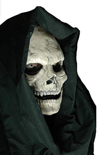 Maskworld Skelett-Maske aus Latex - Halbmaske Gevatter Tod - hautfarben