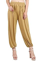 Myshka Womens Grey Solid Cotton Lycra Harem Pants_HM010darkedg-free