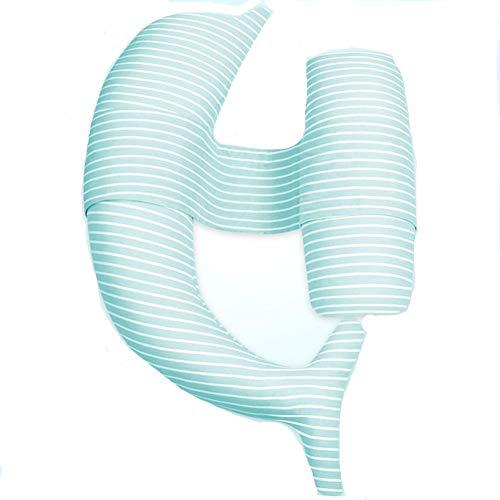 TINGTING Schwangere Frauen Körper Schlaf Stützkissen U-Typ Dolphin Baumwolle Kissenbezug Schwangere Frauen Kissen Schwangere Schlaf Taille Seite Schlaf Kissen Side Sleeper (Blau und Pink),Blue,b -