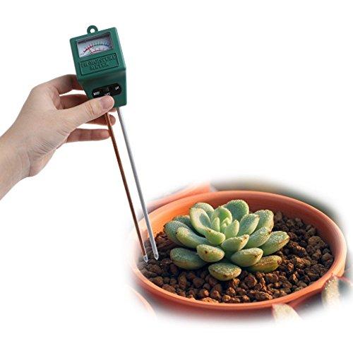 Ydzn 3in 1suolo PH dell' acqua tester di umidità luce Analized tester rilevatore di giardino fattoria prato pianta fiore (quadrato)