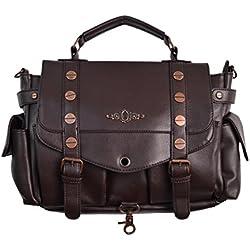 Prohibido bolso de mano de cobre marrón
