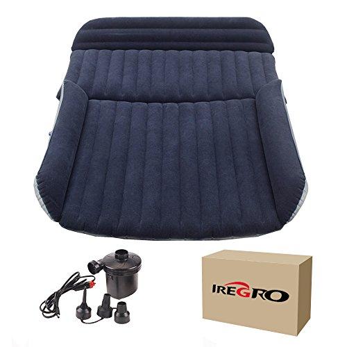 SUV Luftmatratze iRegro Auto Luftmatratze mit Pumpe, aufgerüsteten Version Luftbett für Auto Matratze aufblasbares Bett Air Bett für Reisen, Camping usw.