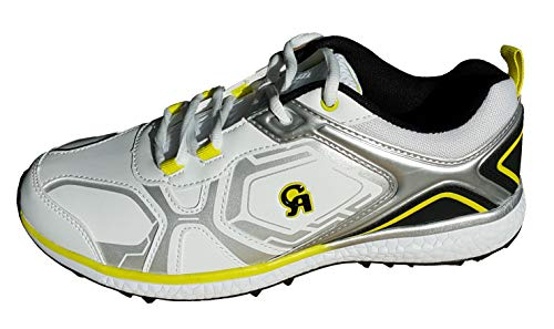 CA 7K Yellow White Cricket Shoes (EU-Size 41)