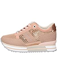 Apepazza Sneaker Running MOD. RICCARDA in Pelle Tessuto Rosa Cipria Donna  DS19AP02 d83b51bcf47