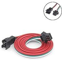 Cable conector jst macho hembra de 0,5 m, 1 m, 2 m, 3 pines, para WS2812B WS2811 SK6812 tira de luces LED, 2 m