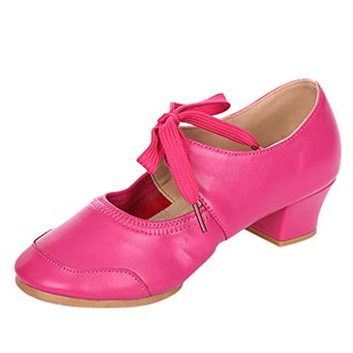 Amlaiworld Damenschuhe mit einfarbigen Schuhen Latin Dance Schuhe Ballettschuhe Modern Dance Schuhe Einzelschuhe Tanzschuhe Singles ()