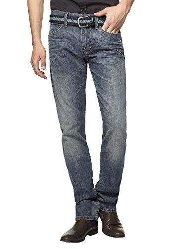 Celio - Jeans - Droit - Homme Bleu (Dirty)
