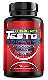 Testo Booster | Extrem Hochdosiert | Muskelaufbau | Pre Workout | 60 Kapseln