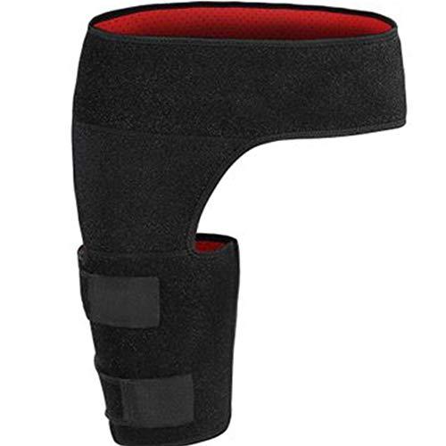 Behavetw inguine fascia per schiena, regolabile a compressione per hip, inguine, cosce e nervo sciatico sollievo dal dolore, anti-muscle ceppo, per proteggere coscia e vita, Nero, Taglia libera