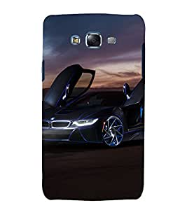 printtech Superfast Car Back Case Cover for Samsung Galaxy A7 / Samsung Galaxy A7 A700F