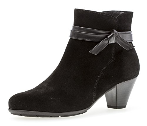 Gabor Damen Ankle Boots 95.642,Frauen Stiefel,Ankle Boot,Halbstiefel,Damenstiefelette,Bootie,knöchelhoch,Blockabsatz 5cm,F Weite (Normal),schwarz,UK 6