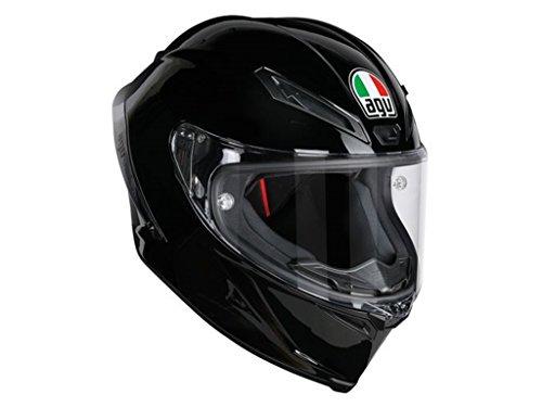 AGV Casco Moto corsa R E2205Solid plk, Negro, L
