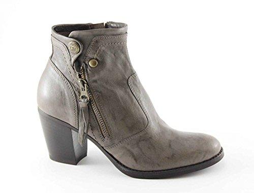 BLACK GARDENS 15980 graue Schuhe Frau Ankle-Boots-Taste Reißverschluss Grigio
