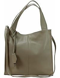 2566cf41f2c41 Bozana Bag Nina Beige Italy Designer Damen Handtasche Ledertasche Tasche  Wildleder Prägung Shopper Neu