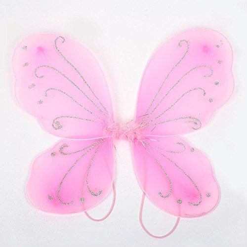 MingXiao Elf Fee Flügel Schmetterlingsflügel Erwachsene 42 * 31 cm Mädchen Halloween Schmetterling verkleiden Sich Tinker Bell Halloween Kostüm