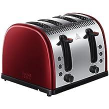 Russell Hobbs Legacy 4-Slice Toaster - Metallic Red