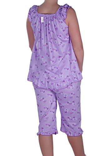 Eyecatch - Gypsy Dames Chemise Pantalon Aux Femmes Pyjamas Fixé Usure Lounge Vêtement De Nuit Costume De Couchage Lilas