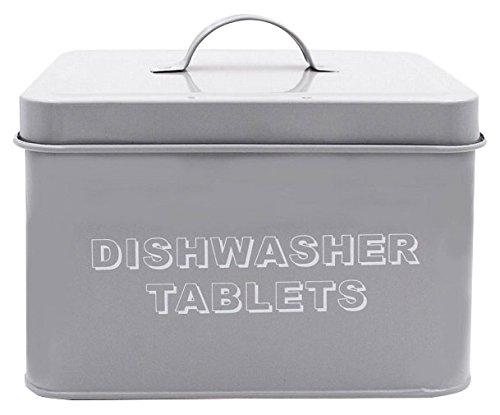 12 X 18 Metall (Lesser & Pavey New Sweet Home Geschirrspüler Tablet Box, Metall, grau, 18x 15x 12cm)