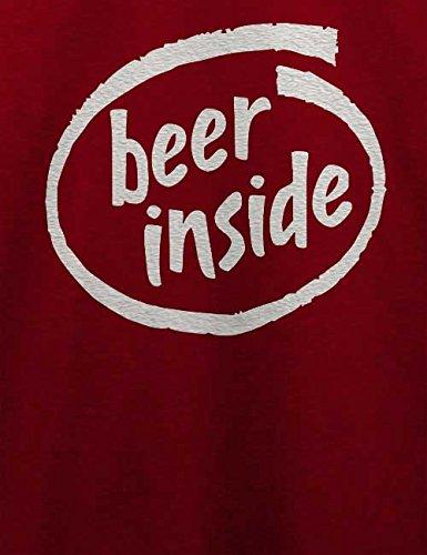 Beer Inside T-Shirt Bordeaux
