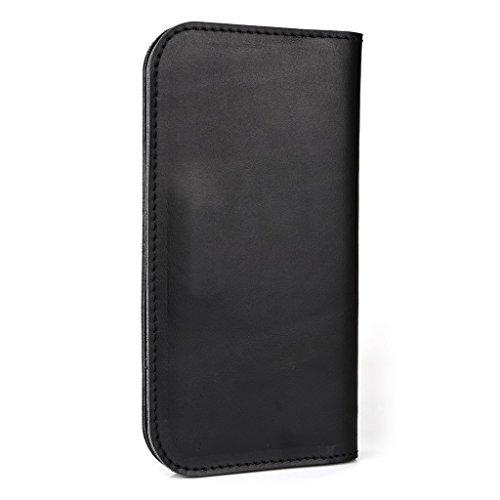 Étui portefeuille en cuir véritable pour Blu Advance 4,5/Dash 4,5Housse Marron - marron noir - noir