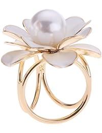Sharplace Bague de Foulard Ronde Bijoux Fleur en Alliage pour Mariage Bal de  Finissant  4b3d036568f