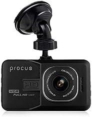 "Procus Convoy Car Dash Camera, H1080P, 3"" LCD Screen Video Recorder, 120° Wide Angle Lens, G-Sensor, Moti"