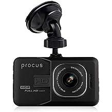 "Procus Convoy Car Dash Camera, H1080P, 3"" LCD Screen Video Recorder, 120° Wide Angle Lens, G-Sensor, Motion Detector, Loop Recorder, Upto 32GB"