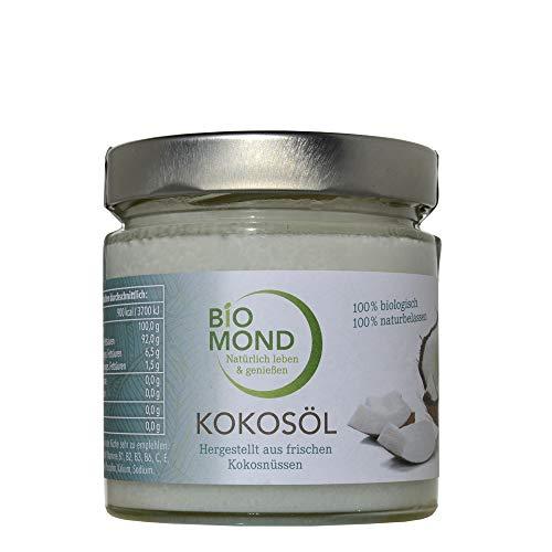 BIO Kokosöl PREMIUM von BIOMOND, 330 ml/kaltgepresst/nicht raffiniert/Virgin Coconut Oil/frisch/Rohkostqualität/Butterersatz