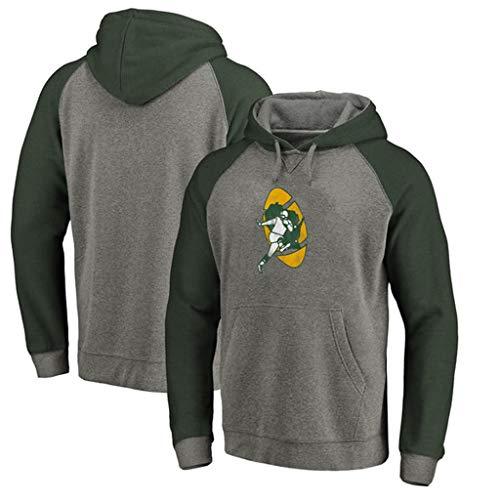 WLDSH Basketball Fan Sport Pullover Green Bay Packers Fußballtrainingsanzug Hoodies lässig langärmeligen Sportpullover (Size : XXL) -