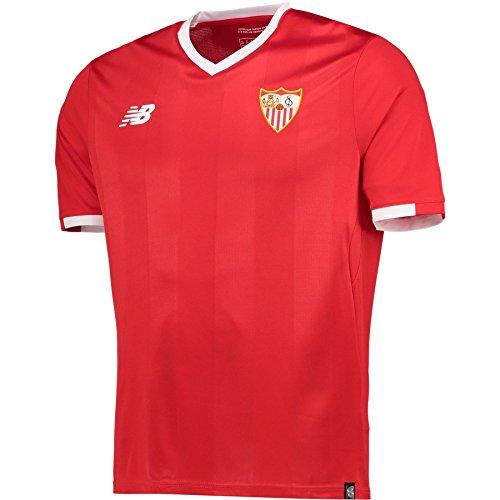 New Balance SFC MC AW Camisa Sevilla FC 2017-2021, Hombre, Rojo (Hrd),