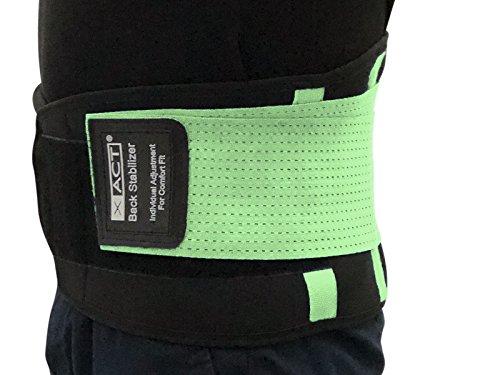 scarlet health | Rückengurt »XACT« zur Stabilisierung & Haltungskorrektur; lindert Schmerzen; für Damen und Herren; Größen S - XXL (Grün, L)