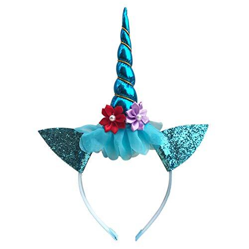 Gyrate Großhandel Depot Mädchen Einhorn Horn Stirnband Party Hochzeit Cosplay Geburtstag Geschenk Haarzubehör (Favors Großhandel Party)