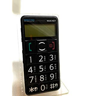 Aspect Two Maxi KEY Black (Unlocked) SOS Big Button Mobile Phone (phone and battery)