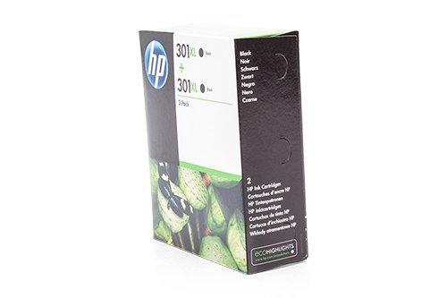 Original Tinte Passend für HP Envy 5532 e-All-in-One HP 301XL D8J45AE - 2X Premium Drucker-Patrone - Schwarz - 2x480 Seiten - 2x8 ml