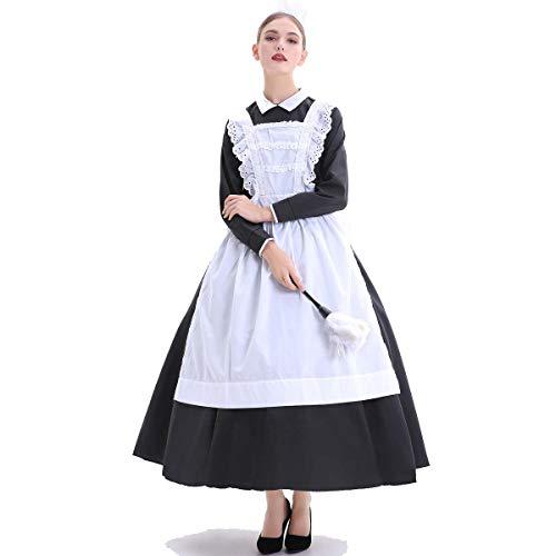 Maid Kostüm Cute - XSH Damen Cosplay Sexy Maid Kostüme Halloween Kostüme Cute Maid Game Uniformen,Weiß,M