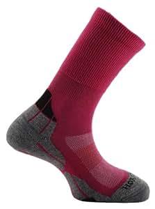Horizon Women's Coolmax Hiker Sock - Cerise/Grey/Charcoal, Size 31/2-6