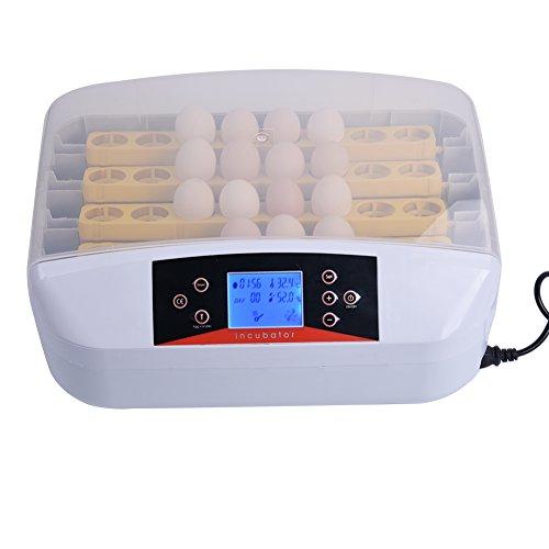 Awhao Máquina de eclosión Incubadora del huevo Huevos con volteo automatico 32Pcs 220V