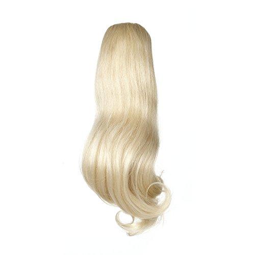 American Dream Superstar Queue de Cheval 100% Cheveux Humains Cordon de Serrage 60 Blond Pur