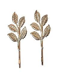 Aaishwarya Leaf Motif Golden Hairclips/pins (set of 2)