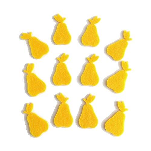 Bastelfilz Figuren Set – Birne klein. – Filz, Textilfilz, Streudeko