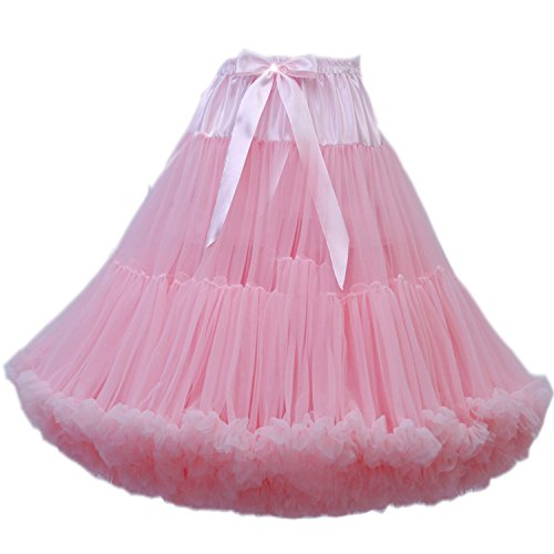 ostüm Ballett Tanz Multi-Layer Puffy Rock Erwachsene luxuriöse weiche Petticoat (Rosa Ballett Kostüm)