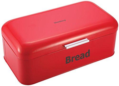 Brotkasten aus Metall, 42 x 23 x 16,5 cm, Rot Brotbox