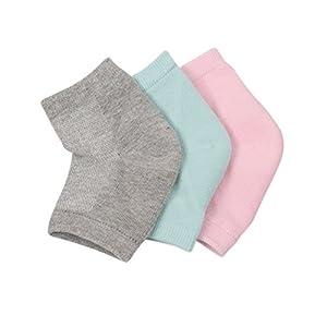 Frcolor Gel-Fersensocken, feuchtigkeitsspendende Silikon-Socken für trockene, harte und rissige Haut, 3 Paar