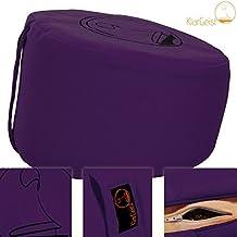 ॐ KlarGeist® ergonomisches Meditationskissen & Yogakissen ✔14 Designs ✔3 Größen ✔Gerader Rücken ✔Länger meditieren